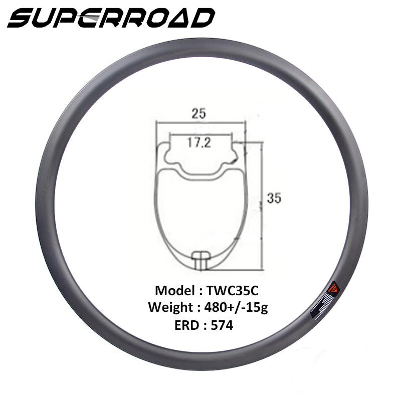 Road Bike Tubeless Clincher rim