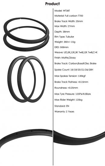 Road Bike Tubular rims 700C