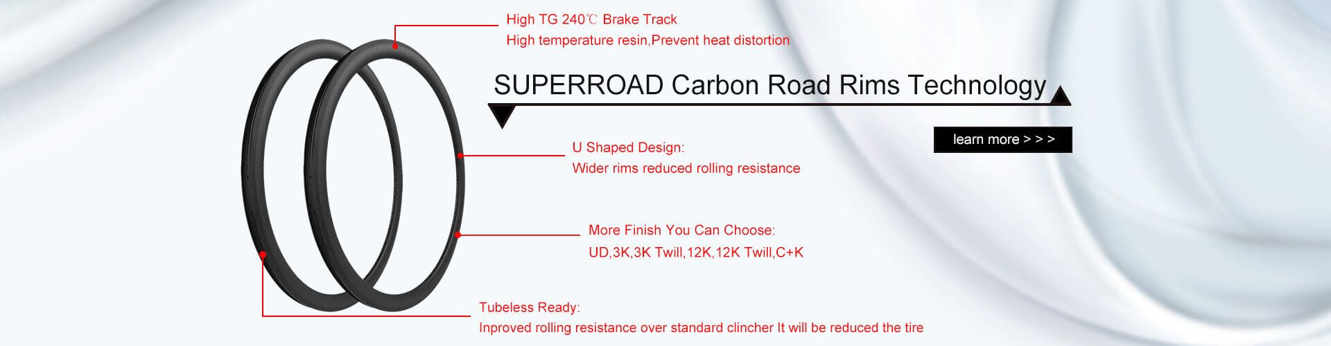 Carbon Road Bike Wheelset